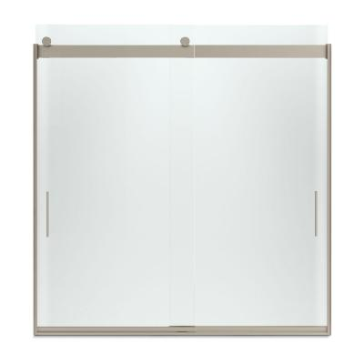 Levity 59-5/8 in. W x 62 in. H Semi-Framed Sliding Tub/Shower