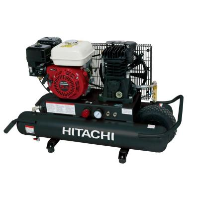 Hitachi 8 Gal. 5.5 HP Wheel Barrow Air Compressor with Intake Filters and 8 oz. Synthetic Oil