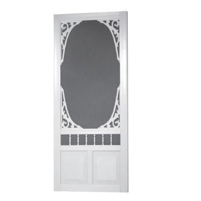 Georgian Solid Vinyl White Screen Door