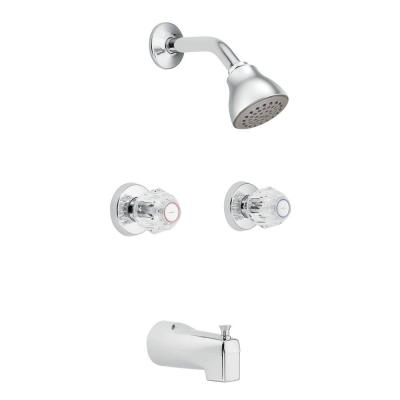 Chateau 2-Handle Tub and Shower with Single Function Showerhead in Chrome Product Photo