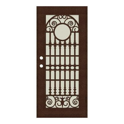 Spaniard Copperclad Surface Mount Security Door with Beige Perforated Aluminum Screen