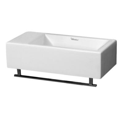 Whitehaus Collection Isabella Wall Mounted Bathroom Sink In White Wh1 114ltb Wh The Home Depot