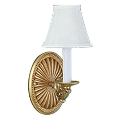World Imports 1-Light French Gold Wall Sconce