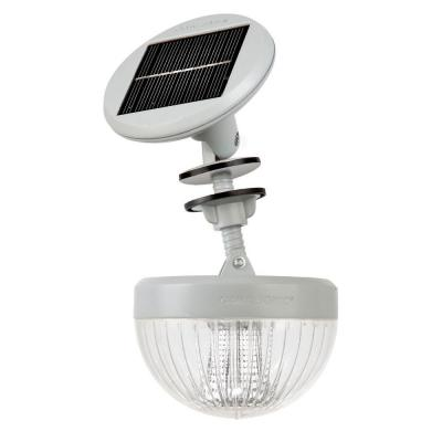 Gama Sonic Crown Solar LED Shed Light with Adjustable Solar Panel