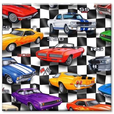 Art Plates Muscle Cars 2 Blank Wall Plate