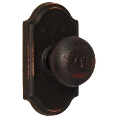 Weslock Molten Bronze Oil-Rubbed Bronze Premiere Keyed Entry Wexford Knob