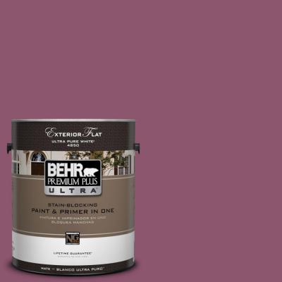BEHR Premium Plus Ultra 1-Gal. #UL100-18 Majestic Orchid Flat Exterior Paint-DISCONTINUED