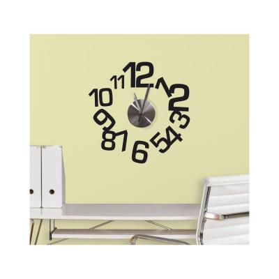 null 3.75 in. x 11.25 in. Contemporary Clock Peel and Stick Wall Decals