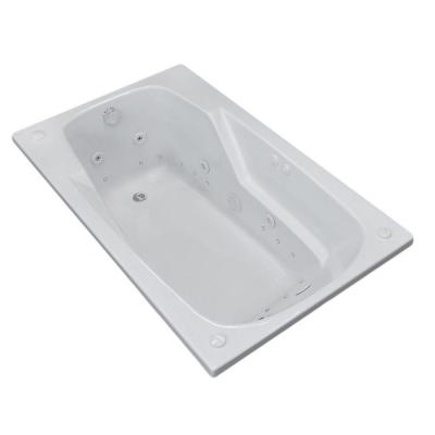 Universal Tubs Coral 5 ft. Whirlpool and Air Bath Tub in White