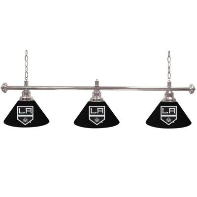 Trademark NHL Los Angeles Kings 60 in. Three Shade Gold Hanging Billiard Lamp