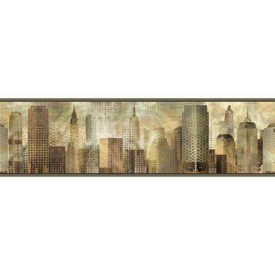 6 in. Blake Taupe Skyline Border Product Photo