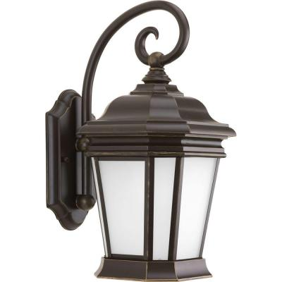 Progress Lighting Crawford Collection 1-Light Outdoor Oil Rubbed Bronze Wall Lantern