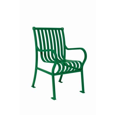 Ultra Play 2 ft. Commercial Park Hamilton Chair in Green with Arms Surface Mount