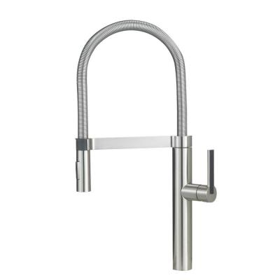 Blanco Culina Semi-Pro Single-Handle Pull-Down Sprayer Kitchen Faucet in Stainless