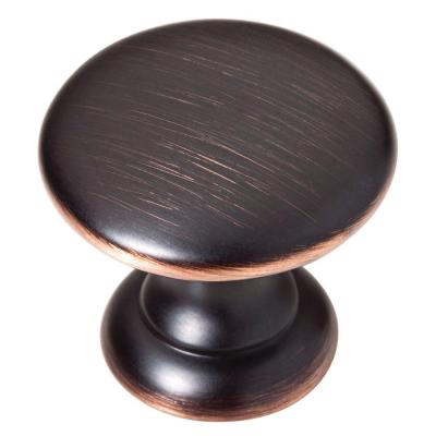 1-1/4 in. Venetian Bronze with Copper Highlights Bobbin Cabinet Knob