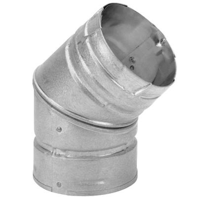 DuraVent PelletVent 4 in. 45-Degree Elbow Chimney Stove Pipe