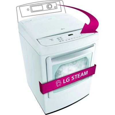 LG Electronics 7.3 cu. ft. Electric Dryer with Steam in White