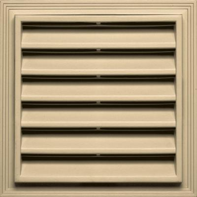 12 in. x 12 in. Square Gable Vent #012 Dark Almond Product Photo