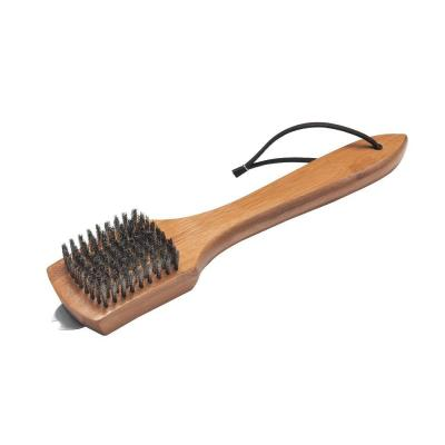 Weber 12 in. Bamboo Grill Brush-6463 - The Home Depot