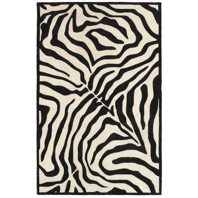 Fashion Black/Cream 7 ft. 9 in. x 9 ft. 9 in.