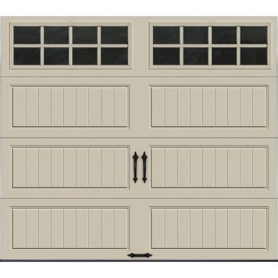 Clopay Gallery Collection 8 ft. x 7 ft. 6.5 R-Value Insulated Desert Tan Garage Door with SQ24 Window