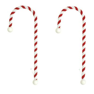 Haute decor candy cane stocking holders 2 pack cc0202 for Haute decor
