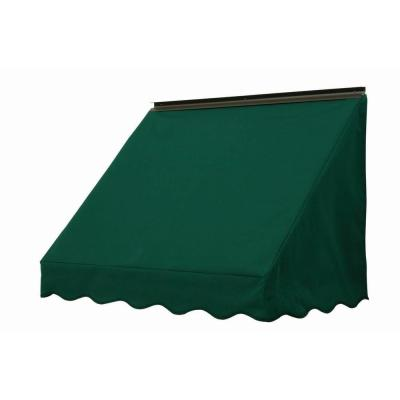NuImage Awnings 6 ft. 3700 Series Fabric Window Awning (23 in. H x 18 in. D) in Hunter Green