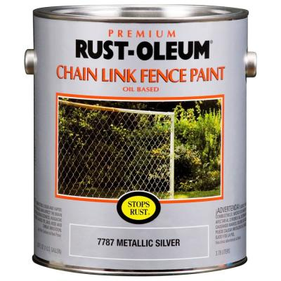 Rust-Oleum Stops Rust 1 gal. Gloss Chain Link Fence Rust Preventive Paint (Case of 2)