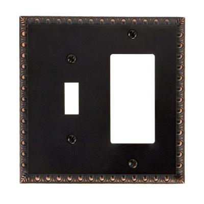 Renaissance 1 Toggle 1 Decorator Wall Plate - Aged Bronze
