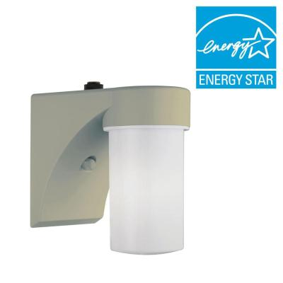 Lithonia Lighting White Fluorescent Outdoor Wall-Mount Cylinder Light