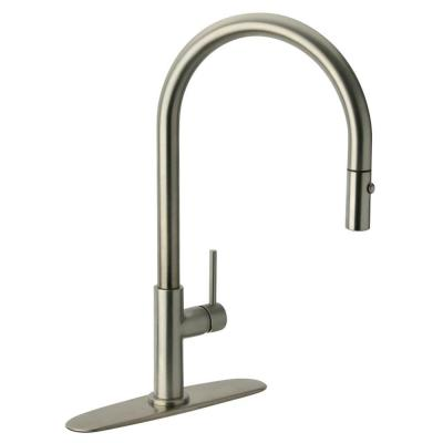 Glacier Bay Carmina Single-Handle Pull-Down Sprayer Kitchen Faucet in Stainless Steel