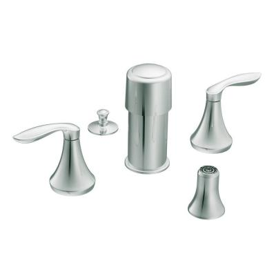 Eva 2-Handle Bidet Faucet Trim Kit in Chrome (Valve not included)