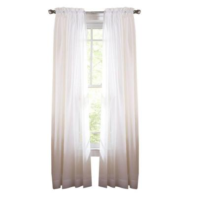 Pure White Fine Sheer Rod Pocket Curtain