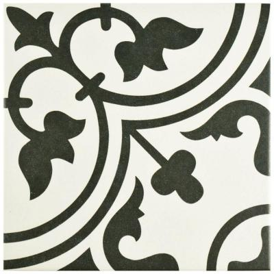 Arte White 9-1/2 in. x 9-1/2 in. Porcelain Floor and Wall