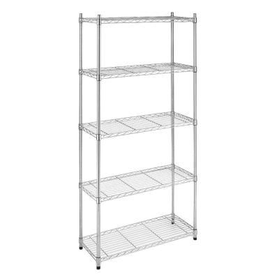 Supreme Shelving Collection 36 in. x 72 in. Supreme 5-Tier Shelving in Chrome Product Photo