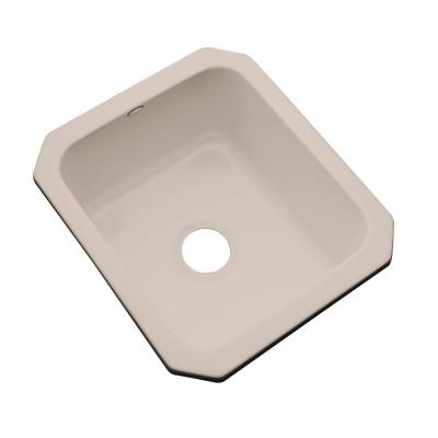 Thermocast Crisfield Undermount Acrylic 17 in. Single Bowl Entertainment Sink in Fawn Beige