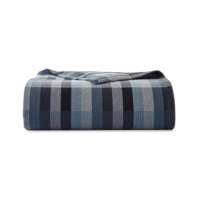 Windsor Stripe Cotton Blanket