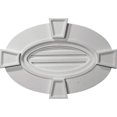 2-1/4 in. x 29 in. x 20 in. Functional Horizontal Oval Gable Vent with Keystones Product Photo