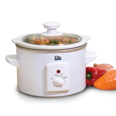 Cuisine 1.5 qt. Round Slow Cooker in White