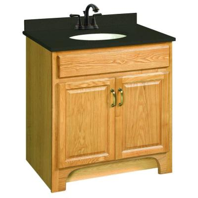 Design House Richland 30 in. W x 18 in. D Two Door Unassembled Vanity Cabinet Only in Nutmeg Oak