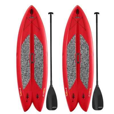 Red Freestyle Paddleboard with Paddle (2-Pack)