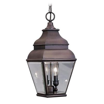 Filament Design Providence 2-Light Outdoor Hanging Bronze Pendant