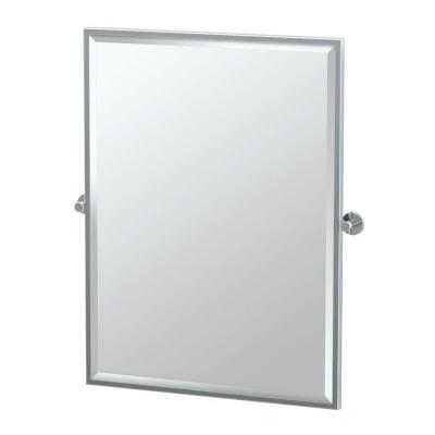 Channel 27.63 in. x 32.50 in. Framed Single Large Rectangle Mirror