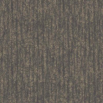 56 sq. ft. Charcoal and Champagne Devore Wallpaper