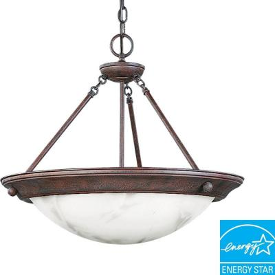 Progress Lighting Eclipse Collection Cobblestone 3-light Foyer Pendant P7322-33EBWB