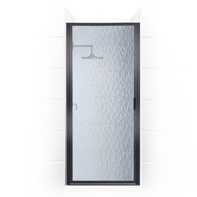 Paragon Series 31 in. x 69 in. Framed Continuous Hinged Shower Door in Oil Rubbed Bronze with Aquatex Glass Product Photo