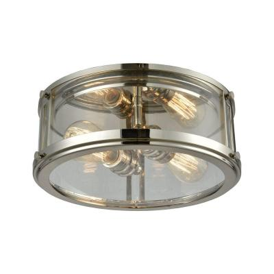 Coby 2-Light Polished Nickel Flush Mount