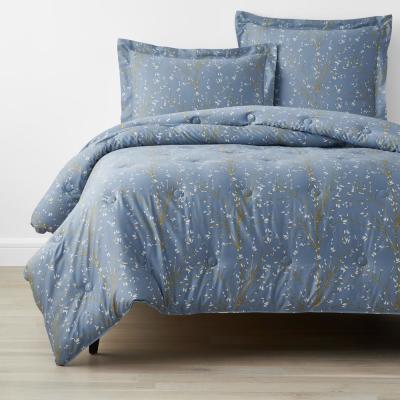 Company Cotton Thistle Blue Bamboo Sateen Comforter