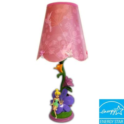 Disney 14 in. Fairies Figural Pink Lamp with Decorative Shade-DISCONTINUED