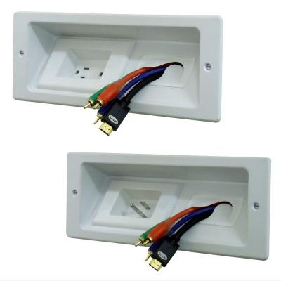 In wall Power Extension Cable Management Kit for Wall